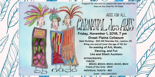 Carnaval des Arts Gala presented by Arts For All, Inc.