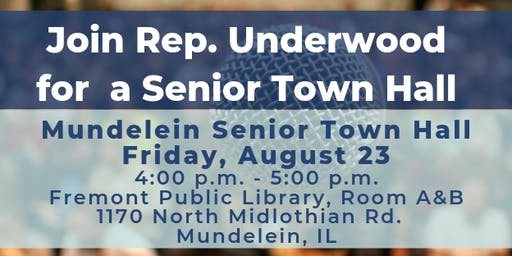 Mundelein Senior Town Hall with Rep. Underwood