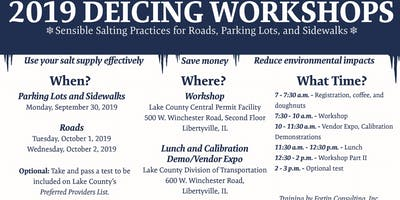 2019 Lake County Deicing Workshops