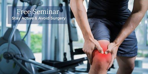 Stay Active & Avoid Surgery: Regenexx Kansas City Seminar Aug 20