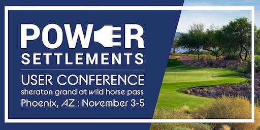 Power Settlements User Conference
