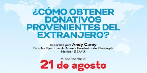 Taller ¿Cómo obtener donativos provenientes del extranjero?
