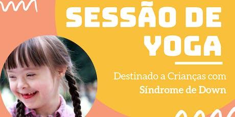 Sessão de Yoga para Crianças com síndrome de Down bilhetes