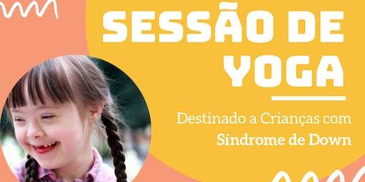 Sessão de Yoga para Crianças com síndrome de Down