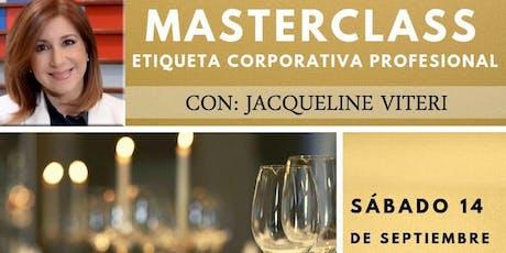 MASTERCLASS ETIQUETA CORPORATIVA tickets
