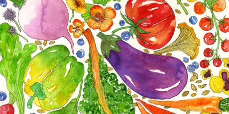 Let's Paint Produce! Tips and Tricks in Watercolor and Pen+Ink by Marcella Kriebel tickets