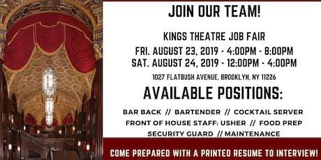 Kings Theatre Job Fair tickets