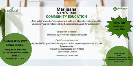 Marijuana Care Clinic Community Education tickets