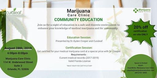 Marijuana Care Clinic Community Education