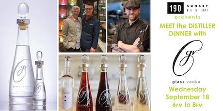Meet the Distiller Dinner with Glass Vodka tickets