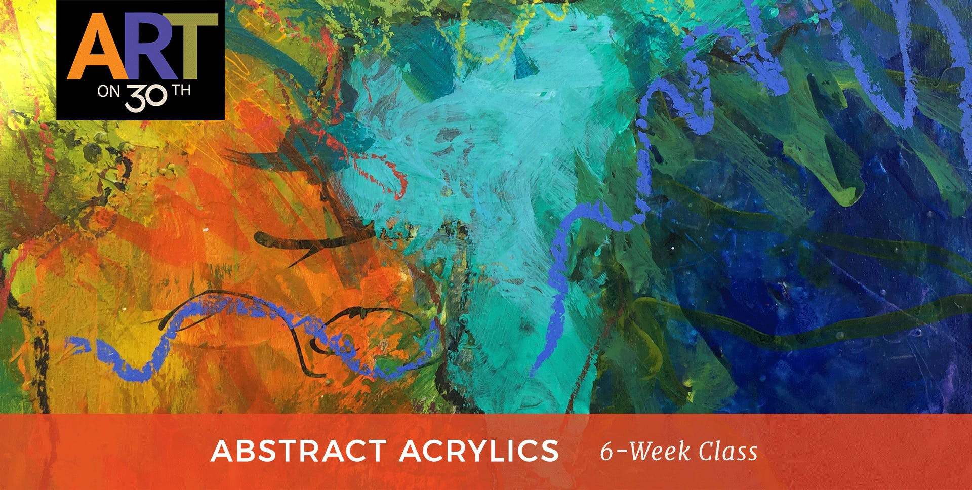 TUE - Abstract Acrylic Painting with instructor Kate Ashton