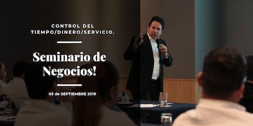 Seminario para dueños de negocios (Control del Tiempo/Dinero/ Servicio) 03 Sep 19