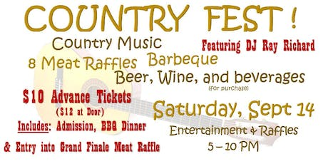 "St. Cecilia's ""Country Fest"" tickets"