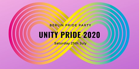 UNITY Pride 2020 • CSD Party Berlin Pride • July 25th 2020 Tickets