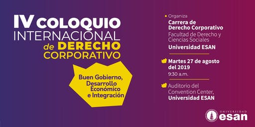 IV Coloquio Internacional de Derecho Corporativo