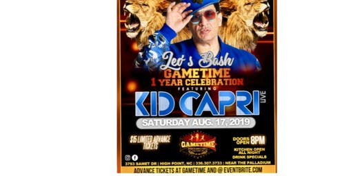 Gametime Sports Bar Presents Kid Capri