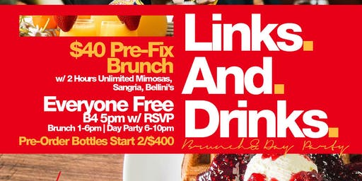 Links & Drinks, Bottomless Brunch + Day Party, Bdays Free Champagne Bottle