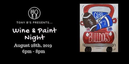 Football Spirit Wine & Paint Night