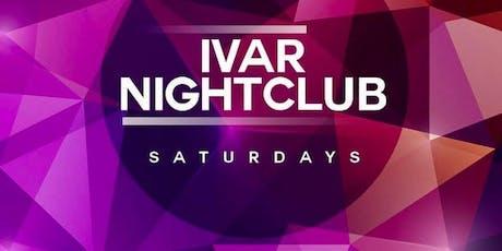 Ivar Saturdays at Ivar Free Guestlist - 9/07/2019 tickets