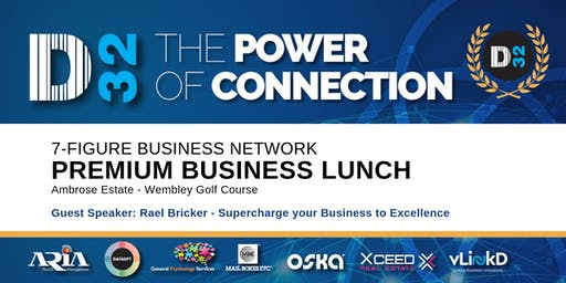 District32 Connect Premium Business Lunch Perth - Thu 22nd Aug