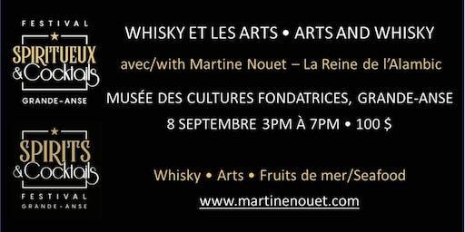 Whisky et les arts avec la Reine de l'Alambic  Mme Martine Nouet