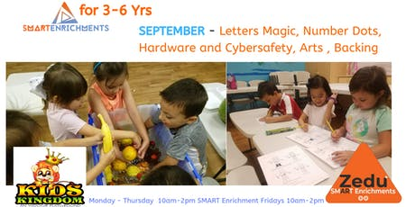 SEPTEMBER  Daily, Weekly SMART Enrichments for 3-6 Yrs tickets