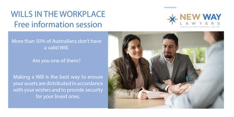 Wills in the Workplace - Information Session (FREE) at CQ University tickets