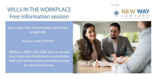 Wills in the Workplace - Information Session (FREE) at CQ University