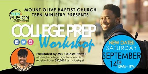 College Prep Workshop for 8th to 12th Graders - New Date