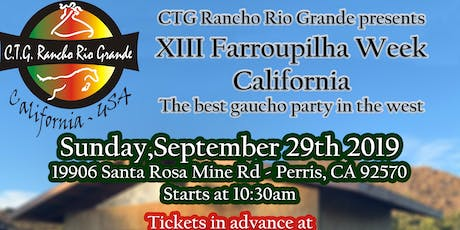 XIII Farroupilha Week from California - 13a Semana Farroupilha California tickets
