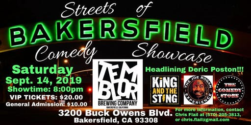 Streets Of Bakersfield Comedy Showcase