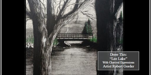 "Fundraising Charcoal Drawing Event ""Lee Lake"" in Elderon"
