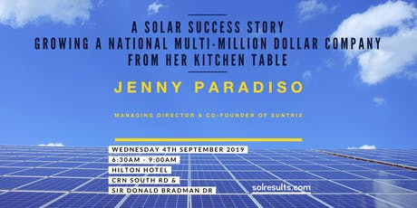 Breakfast at the Next Level | with guest Jenny Paradiso, Co-Founder and Managing Director of solar and battery storage company Suntrix tickets