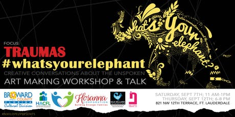 """""""What's Your Elephant"""" Art Making Workshop & Talk (2 dates options) tickets"""