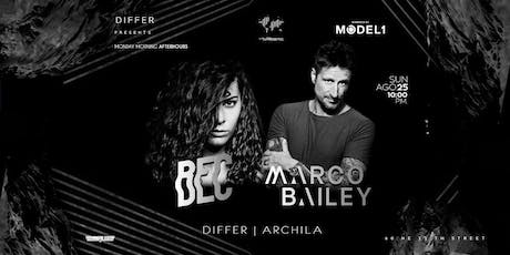 DIFFER Presents. MARCO BAILEY / BEC / DIFFER - ARCHILA @ HANGAR MIAMI tickets