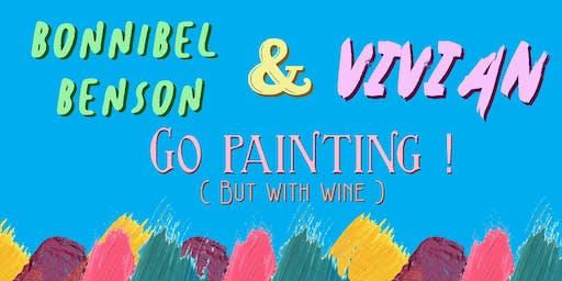 Bonnie and Vivian Go Painting!