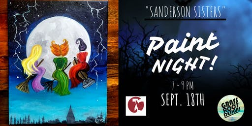Sanderson Sisters Paint Night at Red Lantern!