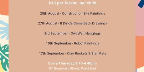 Tuesday After School Art: Clay Rockets & Star Mats tickets