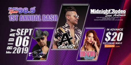 KLMO 98.9 BASH - AJ Castillo | Sunny Sauceda | Devin Banda -San Antonio, TX tickets
