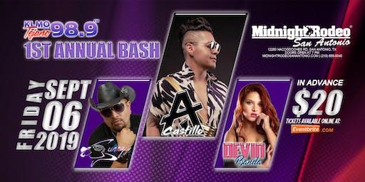 KLMO 98.9 BASH - AJ Castillo   Sunny Sauceda   Devin Banda -San Antonio, TX