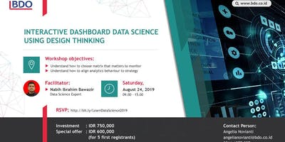 [PAID WORKSHOP] Interactive Dashboard Data Science Using Design Thinking
