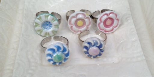 Polymer Clay Brooch and Ring Workshop