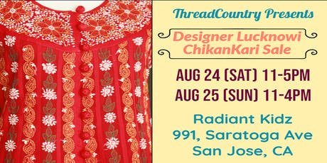 """Threadcountry Hand embroidered """"chikankari"""" clothing exhibition  tickets"""