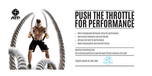 ATP Science Seminar > Push The Throttle For Performance
