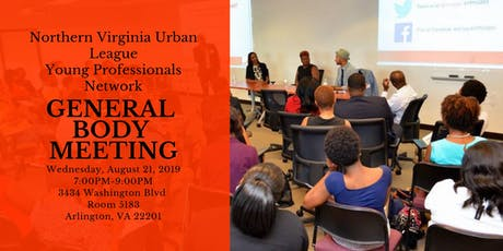 Northern Virginia Urban League - Young Professionals Network General Body Meeting tickets