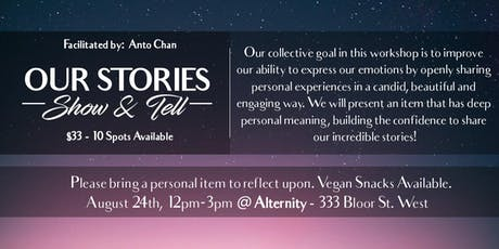 Our Stories Workshop @ Alternity - Show & Tell tickets