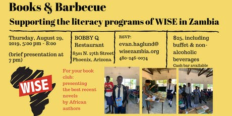 Books & Barbecue: supporting WISE's literacy programs in Zambia tickets