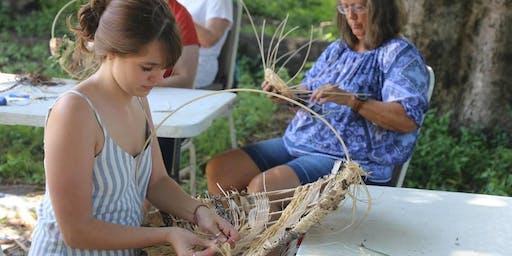 Rustic Basket Making Weaving Circle
