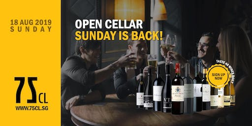 Open Cellar Sunday is Back!
