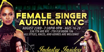 Female Singers Audition NYC